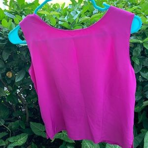 Professional pink tank top blouse